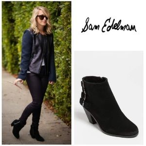 Sam Edelman suede 'Lucca'  buckle ankle booties